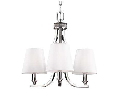 Feiss Pave' Polished Nickel 18'' Wide Three-Light Mini-Chandelier FEIF29683PN
