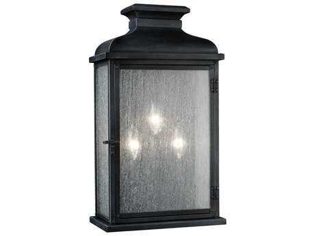 Feiss Pediment Dark Weathered Zinc Two-Light Outdoor Wall Light FEIOL11102DWZ