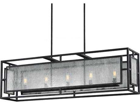 Feiss Prairielands Dark Weathered Zinc Five-Light Island Light FEIF30375DWZ