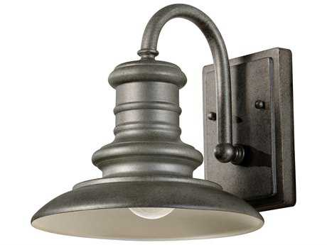 Feiss Redding Station Tarnished 9'' Wide Edison Bulb Outdoor Wall Sconce