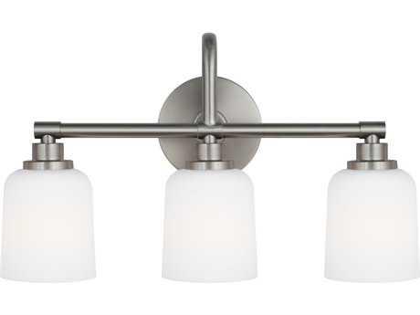 Feiss Reiser Satin Nickel Three-Light 20.75'' Wide Edison Vanity Light