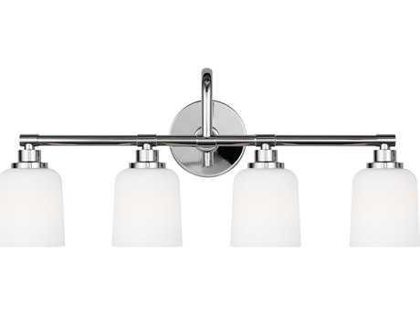 Feiss Reiser Chrome Four-Light 28.75'' Wide Edison Vanity Light