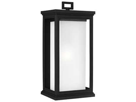 Feiss Roscoe Textured Black Outdoor Wall Light