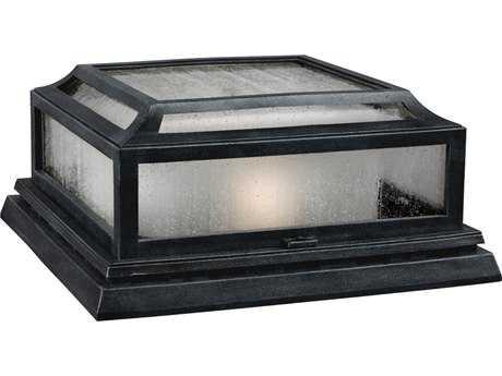 Feiss Shepherd Dark Weathered Zinc Two-Light Outdoor Ceiling Light