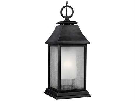 Feiss Shepherd Dark Weathered Zinc Outdoor Pendant Light