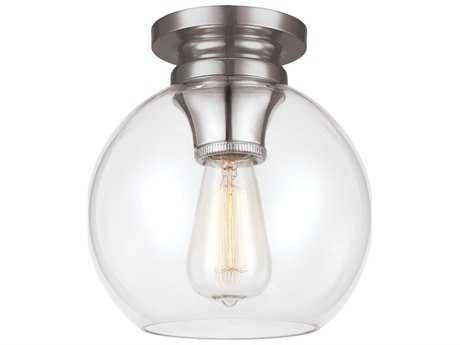 Feiss Tabby Polished Nickel Flush Mount Light FEIFM403PN