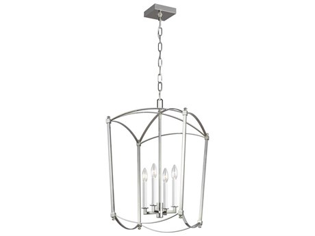 Feiss Thayer Polished Nickel 16'' Wide Mini Chandelier FEIF33224PN
