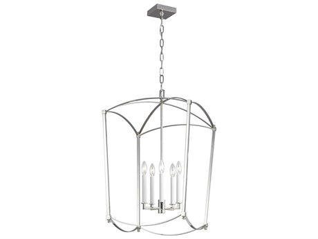 Feiss Thayer Polished Nickel 19'' Wide Mini Chandelier FEIF33235PN