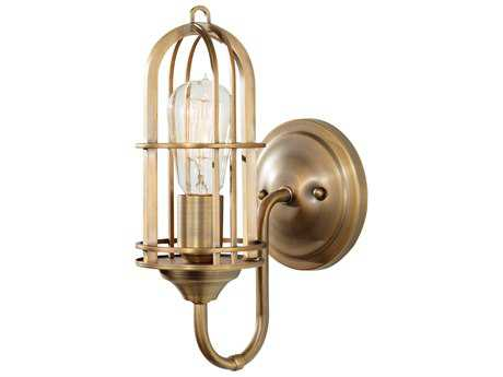 Feiss Urban Renewal Dark Antique Brass 5.5'' Wide Wall Sconce with Dark Antique Brass Die Cast Zinc Shade FEIWB1703DAB