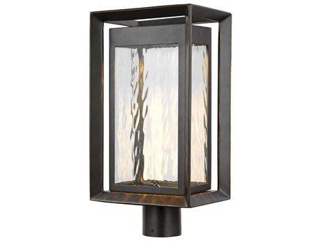 Feiss Urbandale Antique Bronze One-Light 10'' Wide LED Outdoor Post Latern FEIOL13707ANBZL1