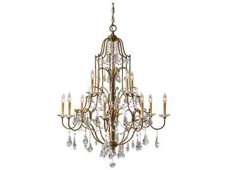 Feiss Valentina Oxidized Bronze 36.5'' Wide 12-Light Chandelier FEIF247984OBZ