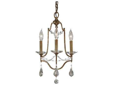 Feiss Valentina Oxidized Bronze 12.5'' Wide Three-Light Mini-Chandelier FEIF26233OBZ