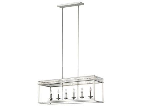 Feiss Woodruff Polished Nickel 40'' Wide Island Light FEIF32786PN