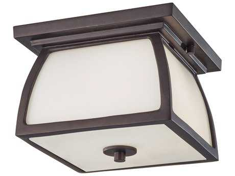 Feiss Wright House Oil Rubbed Bronze Glass Outdoor Ceiling Light