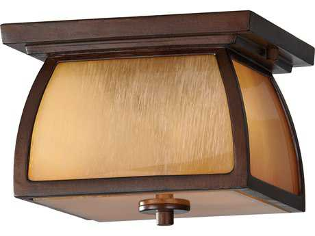 Feiss Wright House Sorrel Brown Outdoor Ceiling Light
