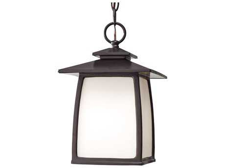 Feiss Wright House Oil Rubbed Bronze Glass Outdoor Hanging Light