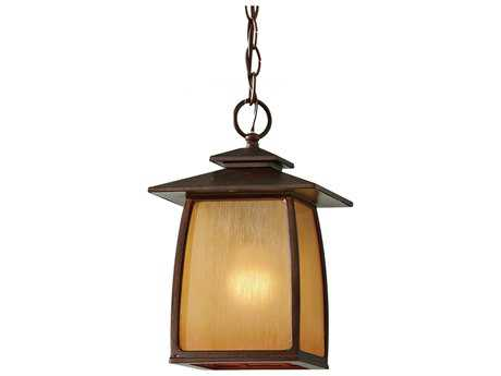 Feiss Wright House Sorrel Brown Outdoor Hanging Light
