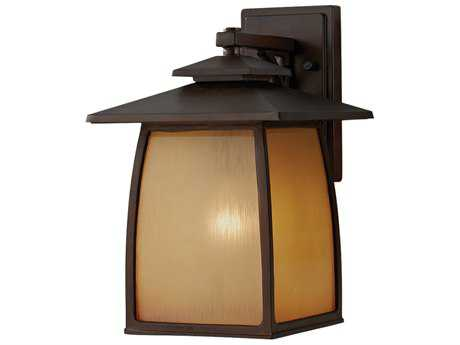 Feiss Wright House Sorrel Brown Glass Outdoor Wall Light