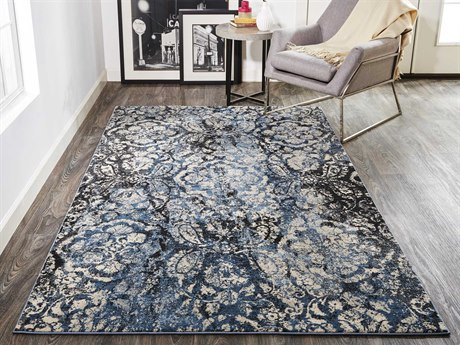 Feizy Rugs Ainsley Charcoal Rectangular Runner Area Rug