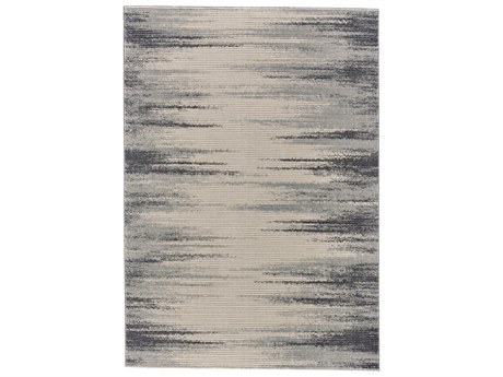 Feizy Rugs Akhari Ivory / Charcoal Rectangular Area Rug FZ3674FIVORYCHARCOAL