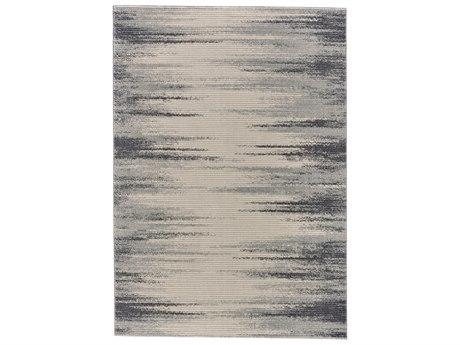 Feizy Rugs Akhari Ivory / Charcoal Rectangular Area Rug