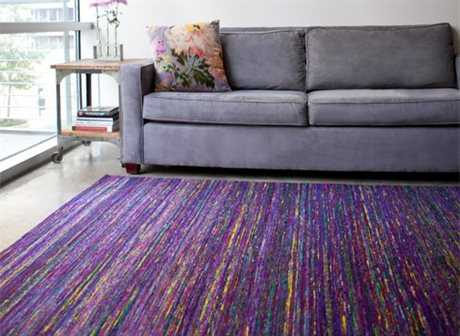 Feizy Rugs Arushi Rectangular Purple Area Rug FZ0504FPURPLE