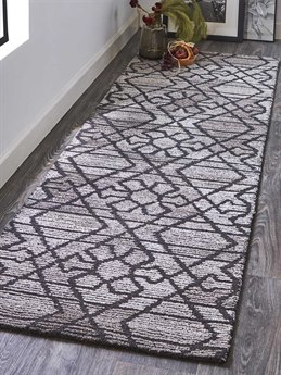 Feizy Rugs Asher Gray / Charcoal Runner Area Rug