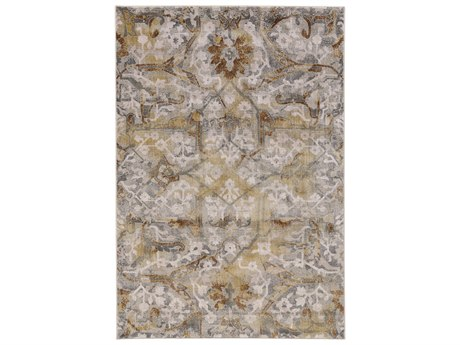 Feizy Rugs Cannes Gray / Yellow Rectangular Area Rug Rug