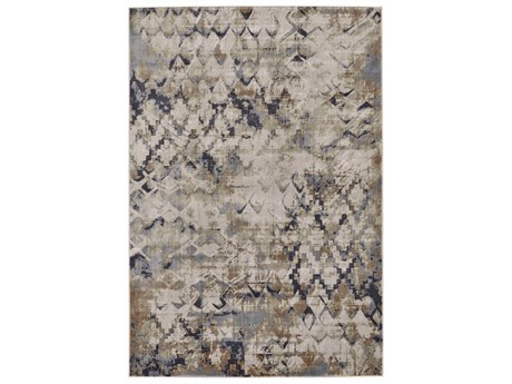 Feizy Rugs Cannes Blue / Beige Rectangular Area Rug