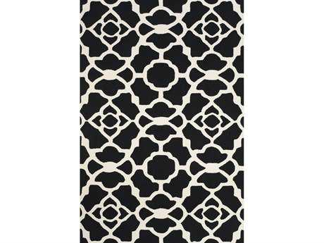 Feizy Cetara Rectangular Black & White Area Rug