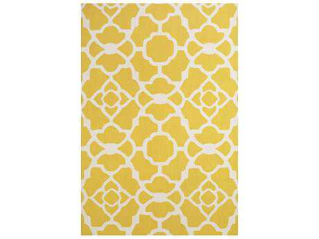 Feizy Cetara Rectangular Yellow & White Area Rug