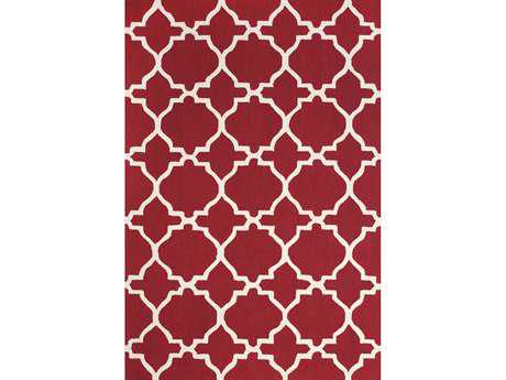 Feizy Cetara Rectangular Red & White Area Rug