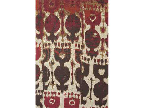 Feizy Coronado Rectangular Red & Brown Area Rug FZ0525FBROWN