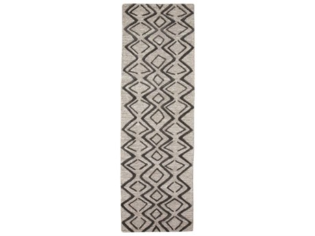 Feizy Rugs Enzo Charcoal / Taupe 2'6'' x 8' Runner Rug