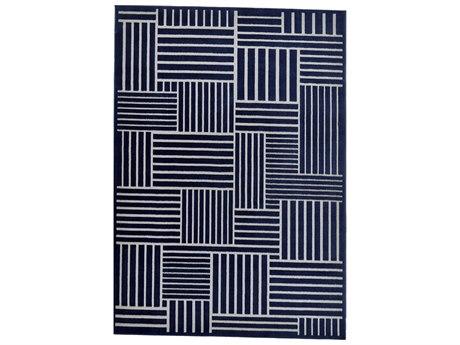 Feizy Rugs Gaspar Navy / Gray Rectangular Area Rug