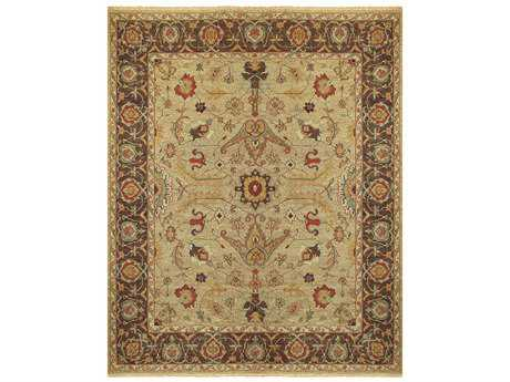 Feizy Goshen Rectangular Gold & Brown Area Rug