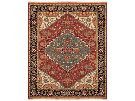 Feizy Goshen Rectangular Red & Black Area Rug