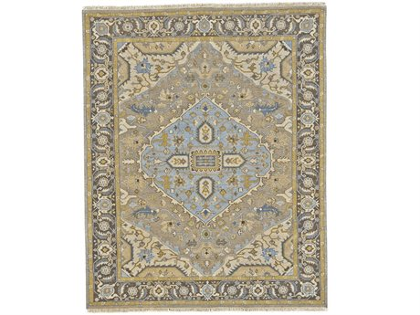 Feizy Goshen Rectangular Dark Gray & Charcoal Area Rug