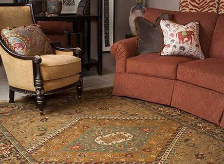 Feizy Rugs Goshen Rectangular Gold & Brown Area Rug