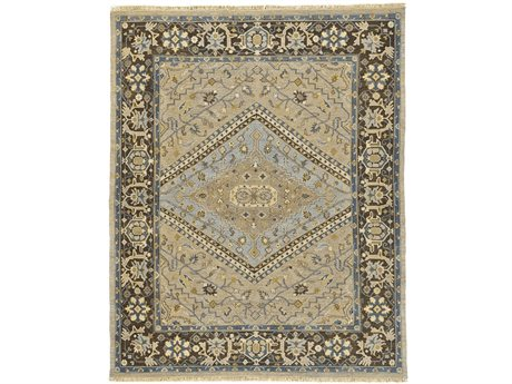 Feizy Goshen Rectangular Smoke & Gray Area Rug