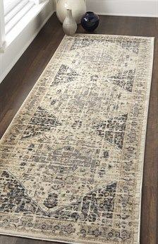 Feizy Rugs Grayson Charcoal / Beige 2'6'' X 7'7'' Runner Rug