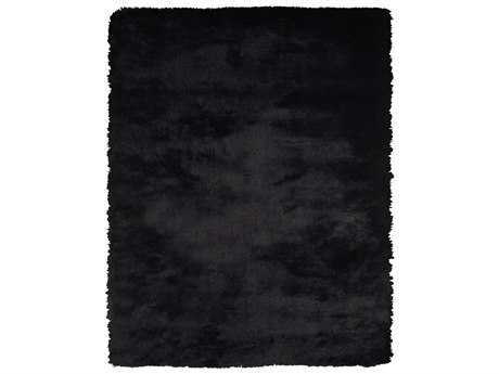 Feizy Indochine Rectangular Black Area Rug FZ4550FBLACK