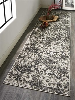 Feizy Rugs Kano Charcoal / Ivory Runner Area Rug