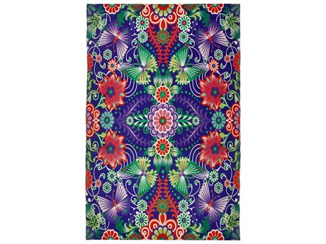 Feizy Rugs Lola Blue / Multi Rectangular Area Rug Area Rug