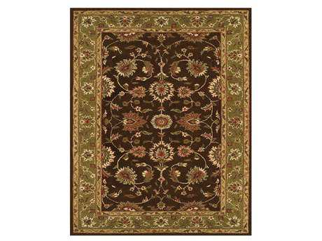 Feizy Magellan Rectangular Dark Brown & Green Area Rug FZ8275F