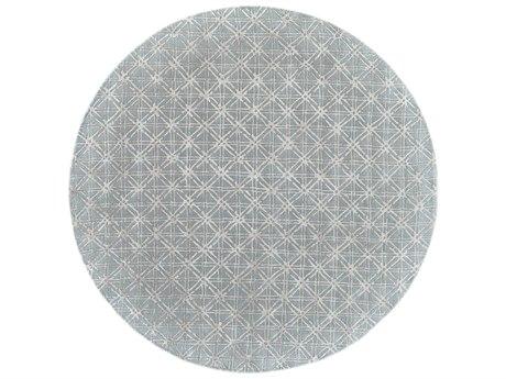 Feizy Rugs Manoa Blue / Beige 10' X 10' Round Area Rug FZ8353FBLUEBEIGEROU
