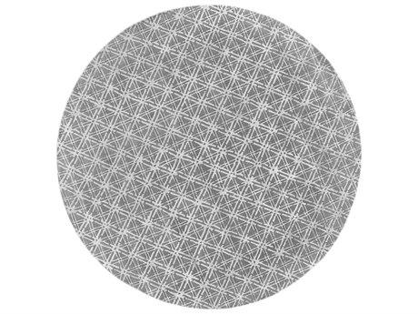 Feizy Rugs Manoa Gray / Silver 10' X 10' Round Area Rug FZ8353FGRAYSILVERROU