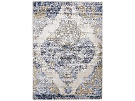 Feizy Rugs Marigold White / Light Blue Rectangular Area Rug