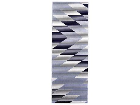 Feizy Rugs Marigold Gray / Light Blue 2'10'' X 8' Runner Rug