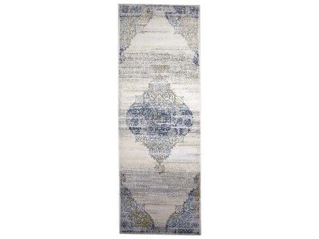 Feizy Rugs Marigold White / Light Blue 2'10'' X 8' Runner Rug